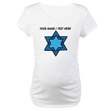 Personalized Blue Star Of David Shirt