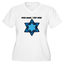 Personalized Blue Star Of David Plus Size T-Shirt