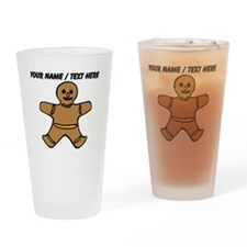 Personalized Gingerbread Cookie Drinking Glass