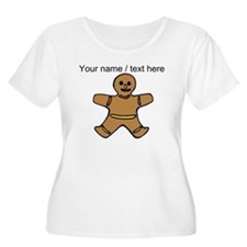 Personalized Gingerbread Cookie Plus Size T-Shirt