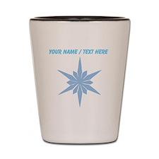 Personalized Snowflake Shot Glass