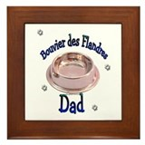 Bouvier Dad Framed Tile