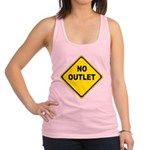 No Outlet Sign Racerback Tank Top