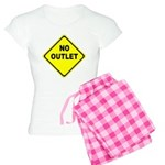 No Outlet Sign Women's Light Pajamas