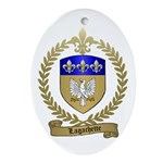 LAGACHETTE Family Crest Oval Ornament