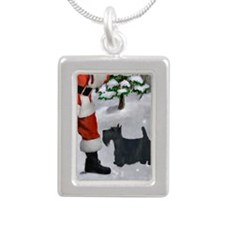 Scottish Terrier Silver Portrait Necklace