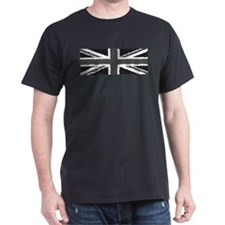 Distressed B&W British Flag (men's Tshirt) T-S