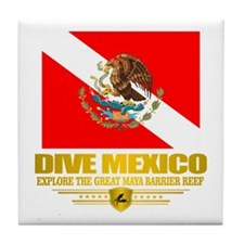 Dive Mexico 2 Tile Coaster