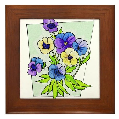 pansies.png Framed Tile