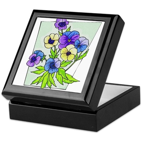 pansies.png Keepsake Box