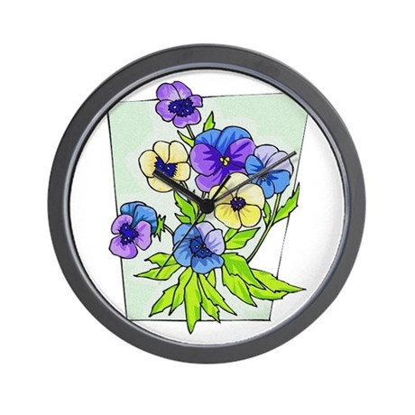 pansies.png Wall Clock