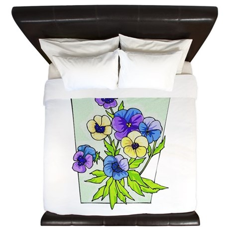 pansies.png King Duvet