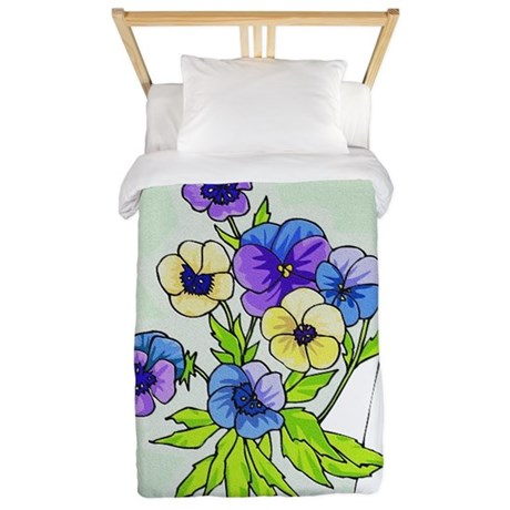 pansies.png Twin Duvet