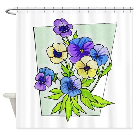 pansies.png Shower Curtain
