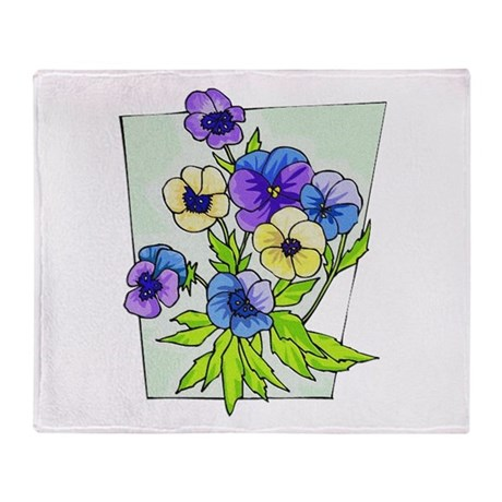 pansies.png Throw Blanket