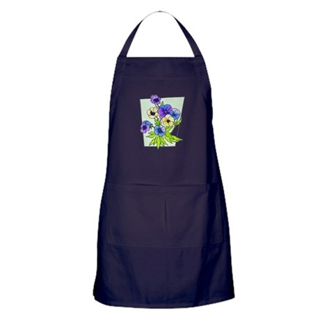 pansies.png Apron (dark)