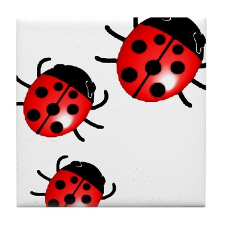 Ladybugs Tile Coaster