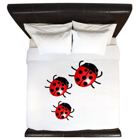 Ladybugs King Duvet