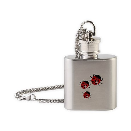Ladybugs Flask Necklace