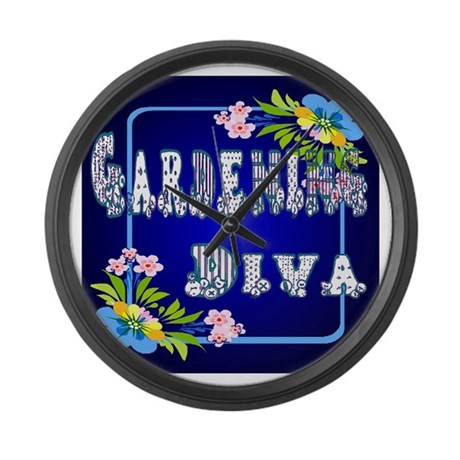 Gardening Diva Large Wall Clock