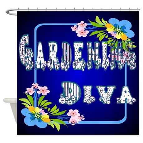 Gardening Diva Shower Curtain
