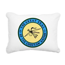 3-sealchoctaw1.png Rectangular Canvas Pillow