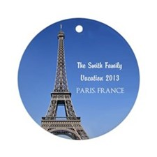 Personalized Vacation Ornament Paris, France