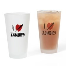 I Love Killing Zombies Drinking Glass