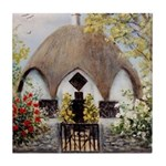 Umbrella Cottage Tile Coaster