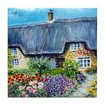 Mother Daughter Cottages Tile Coaster