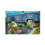 Mother Daughter Cottages Rectangle Magnet