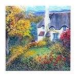 Doone Valley Cottage Tile Coaster