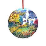Doone Valley Cottage Ornament (Round)