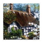 Anne Hathaway's Cottage Tile Coaster