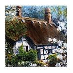 Anne Hathaway's Cottage Tile Coaster