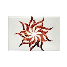 Mandala Flame Rectangle Magnet
