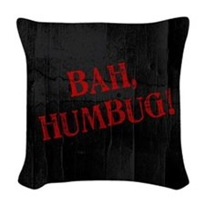 Bah Humbug Woven Throw Pillow