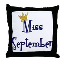 Miss September Throw Pillow