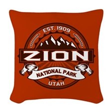 Zion Crimson Woven Throw Pillow