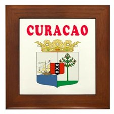 Curacao Coat Of Arms Designs Framed Tile