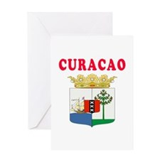 Curacao Coat Of Arms Designs Greeting Card