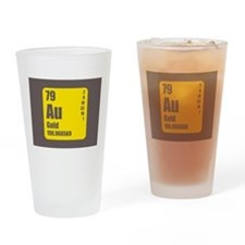 Periodic Table Of Element's Au GOLD Drinking Glass