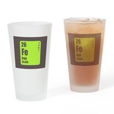 Periodic Table Of Element's Fe Iron Drinking Glass