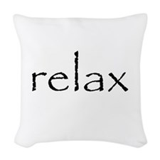 Relax - Woven Throw Pillow