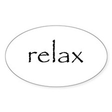 RELAX - Oval Decal