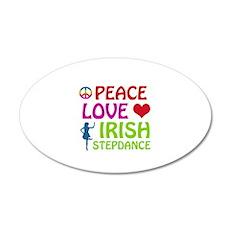Peace Love Irish Stepdance 20x12 Oval Wall Decal