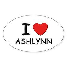 I love Ashlynn Oval Decal