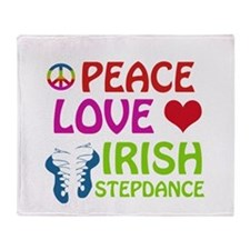 Peace Love Irish Stepdance Throw Blanket