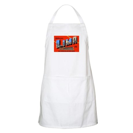 Lima Ohio Greetings BBQ Apron