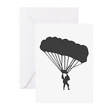 Skydiving Parachuting Greeting Cards (Pk of 20)